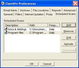 clamwin free antivirus 0.96.5