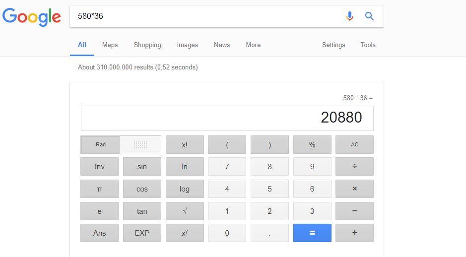 ماشینحساب گوگل