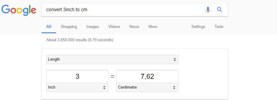 تبدیل واحد گوگل