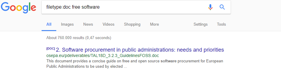 گوگل نوع فایل