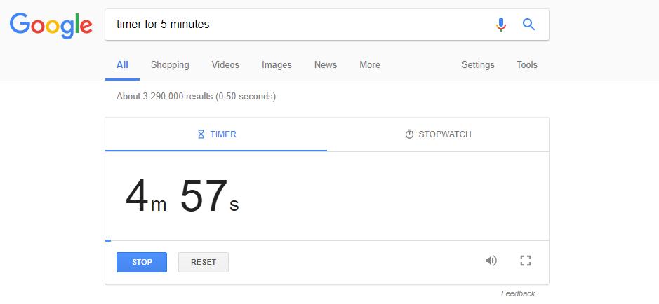 تایمر گوگل